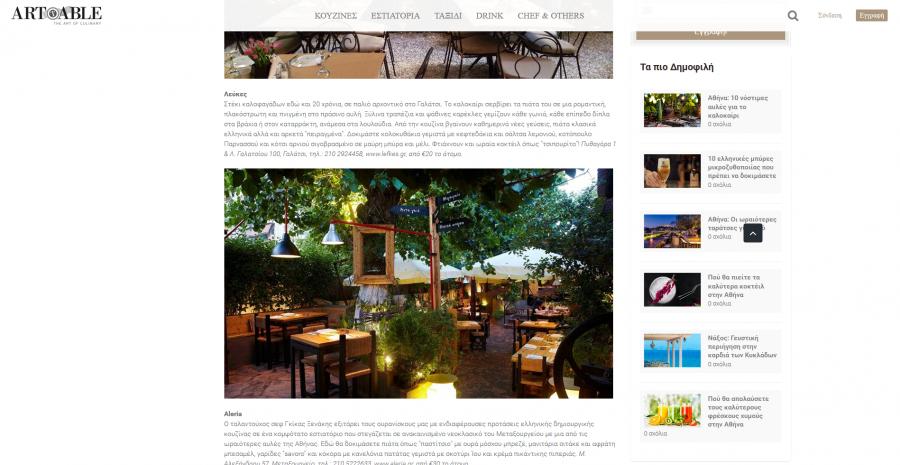 ArtTable: Αθηνα: 10 νοστιμες αυλες για το καλοκαιρι